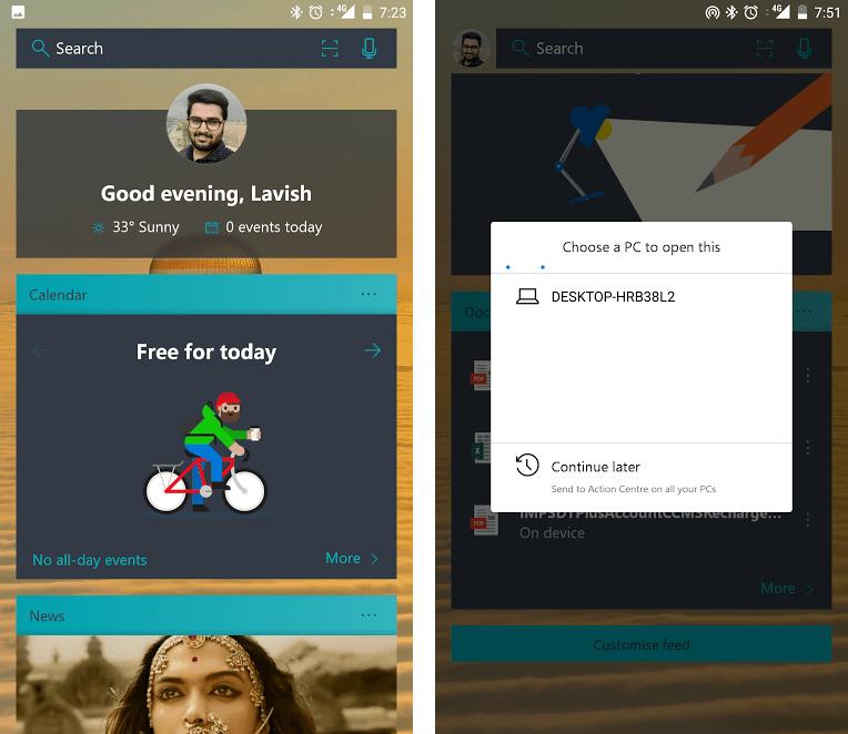 Microsoft Launcher para Android - Características y descargas