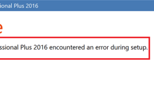 Microsoft Office Professional Plus encontró un error durante la instalación