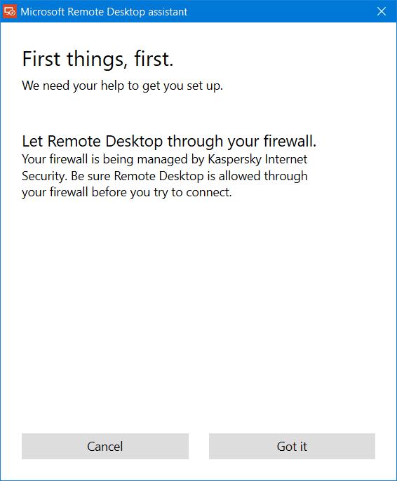 Asistente de escritorio remoto de Microsoft para Windows 10/8/7 2