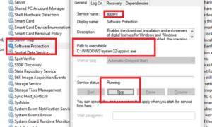 Software Protection Platform Service Sppsvc.exe que causa un alto uso de la CPU