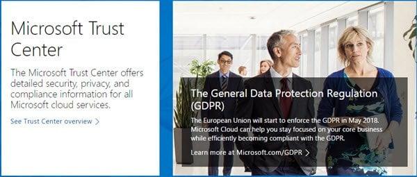 El Centro de confianza de Microsoft le ayuda a administrar la seguridad, la privacidad y el cumplimiento de normativas. 1