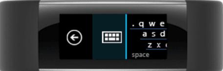 Utilice el teclado de Microsoft Band para responder a cualquier mensaje de texto SMS