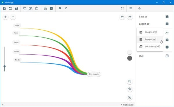 Mindmapp es un software gratuito de mapeo mental para Windows 10