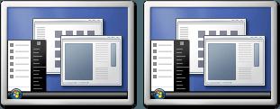 Cómo configurar fácilmente los monitores duales en Windows 7 1