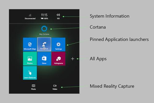 Configuración y navegación de un hogar de realidad mixta de Windows 10