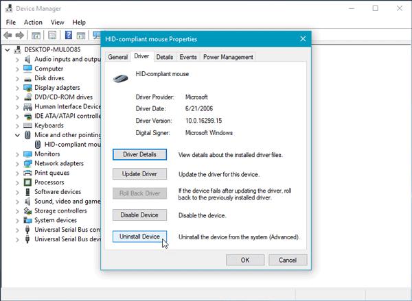 El botón izquierdo del ratón no funciona en Windows 10/8/7