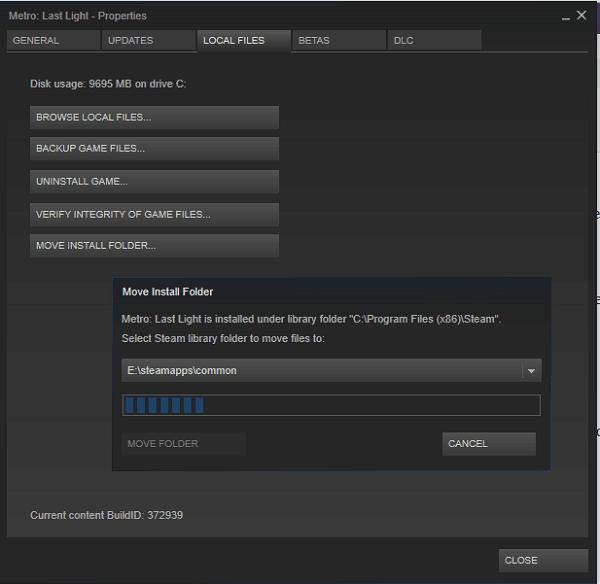 Cómo mover uno o varios juegos de Steam a otra unidad o carpeta 2