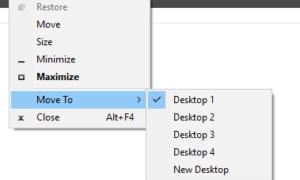 Cómo mover ventanas a través de Escritorios Virtuales en Windows 10