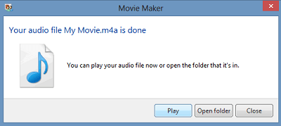 Usar Windows Movie Maker para extraer audio de un clip de vídeo