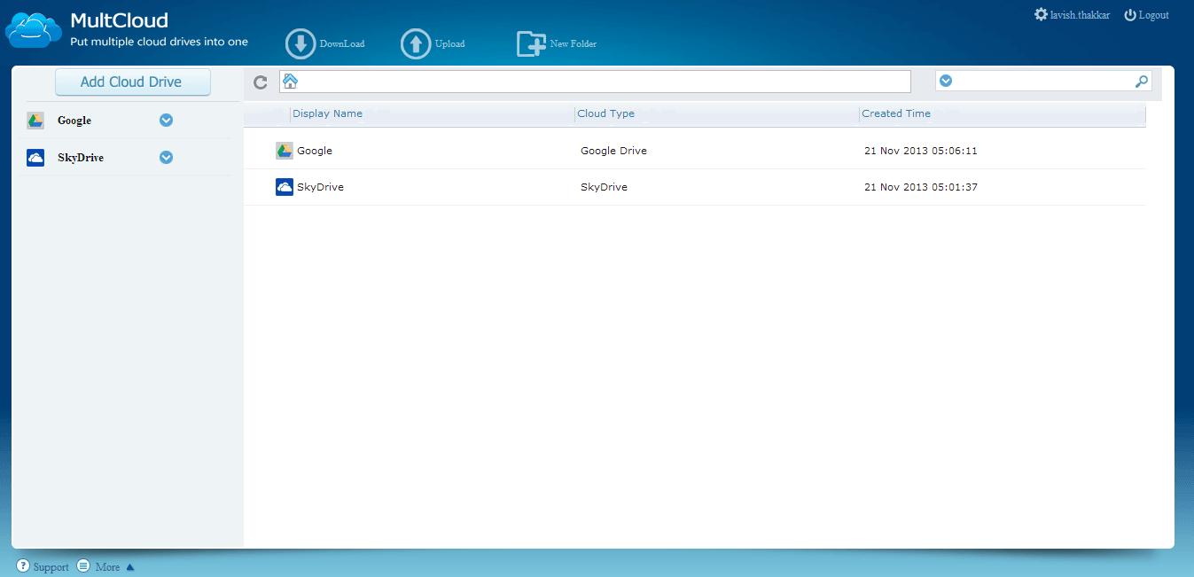 MultCloud le permite gestionar múltiples cuentas y unidades de disco en la nube