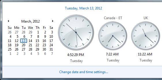 Cómo mostrar Relojes Múltiples en la Barra de Tareas de Windows 10 4