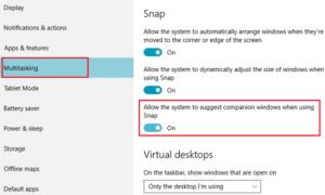 Cómo deshabilitar la función Asistente de complemento en Windows 10
