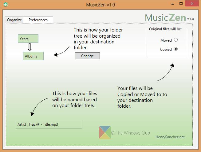 MusicZen: Windows freeware para mover, renombrar y organizar archivos de música