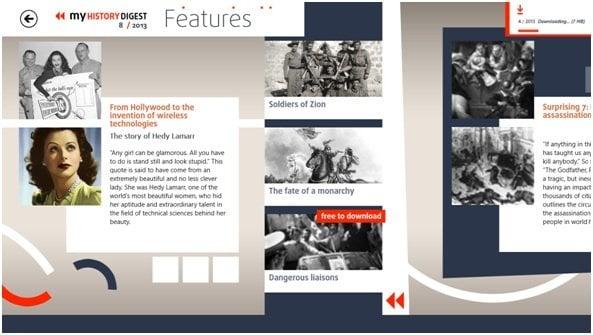 Aplicación educativa para Windows 8 - my History Digest