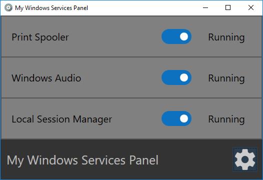 El Panel de Mis Servicios de Windows le permite administrar fácilmente los Servicios de Windows.