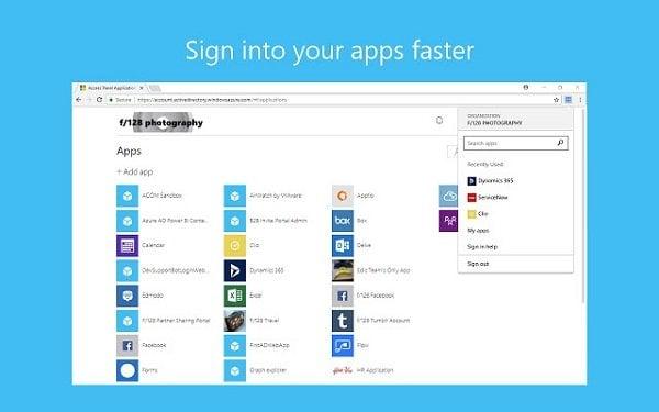 Cuentas de Windows 10 y Mis aplicaciones Extensiones de inicio de sesión seguro para Chrome