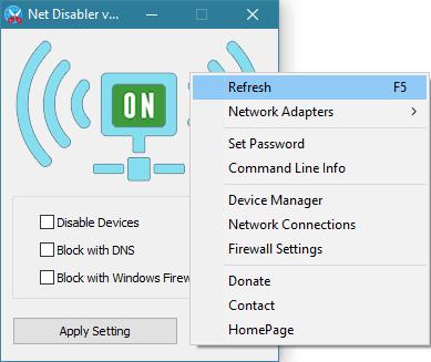 Net Disabler le permite activar o desactivar Internet completamente en un santiamén.