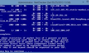 NetChecker: Diagnosticar problemas de conectividad a Internet en Windows 8   7