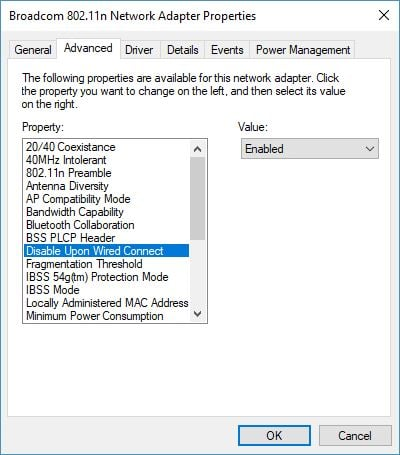 Cómo apagar automáticamente la conexión Wi-Fi cuando el cable Ethernet está conectado