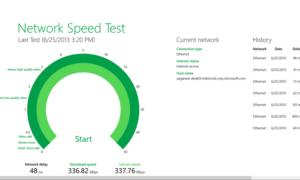 Aplicación de prueba de velocidad de red para Windows 10 de Microsoft Research