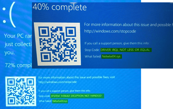 Fijar Netwtw04.sys Pantalla Azul en Windows 10 1
