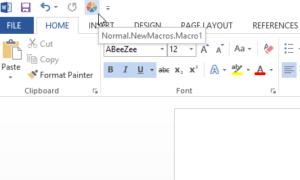 Grabar una macro para crear un botón de acceso directo para múltiples formatos en Word y Excel 2013