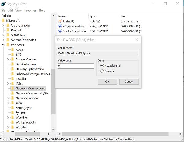 Conectividad de red limitada en Windows 10