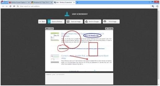 Captura de pantalla de Nimbus: Addon de navegador y freeware de escritorio