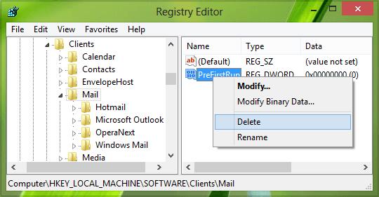 No hay ningún programa de correo electrónico asociado para realizar el error de acción solicitado en Outlook. 3