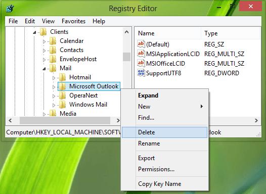 No hay ningún programa de correo electrónico asociado para realizar el error de acción solicitado en Outlook. 4