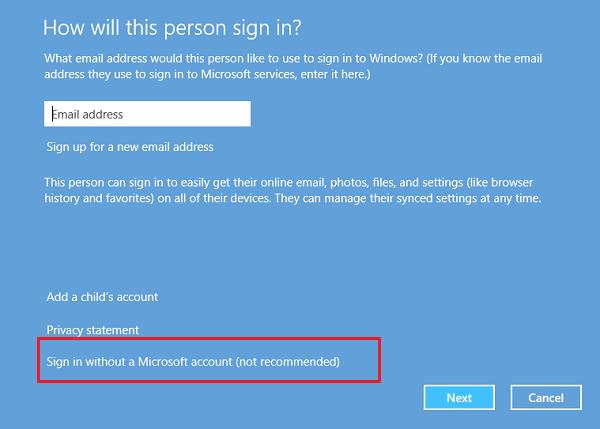 Cómo crear una nueva cuenta de usuario en Windows 10/8.1 8