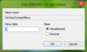 Desactivar el menú contextual de la barra de tareas en Windows 10/8/7
