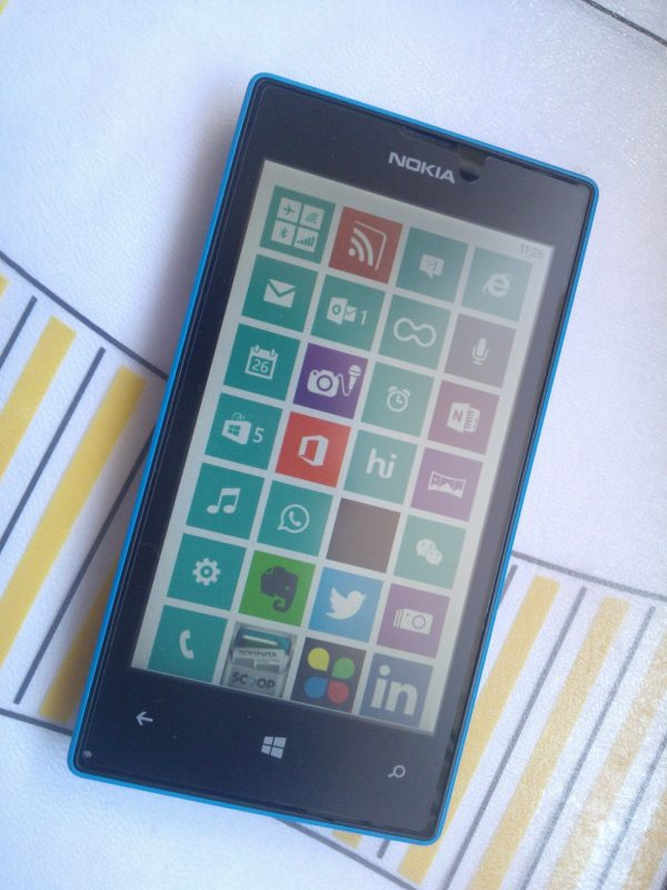 Una toma de un amante de Android en Nokia Lumia 520 Windows Phone 1
