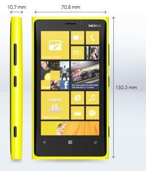 Nokia lanza el smartphone Lumia 920 - Especificaciones técnicas, Impresiones