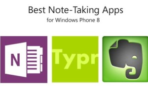 Mejores aplicaciones para tomar notas para Windows Phone 8