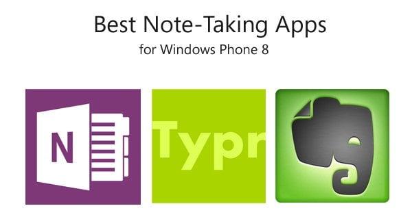 Mejores aplicaciones para tomar notas para Windows Phone 8 1