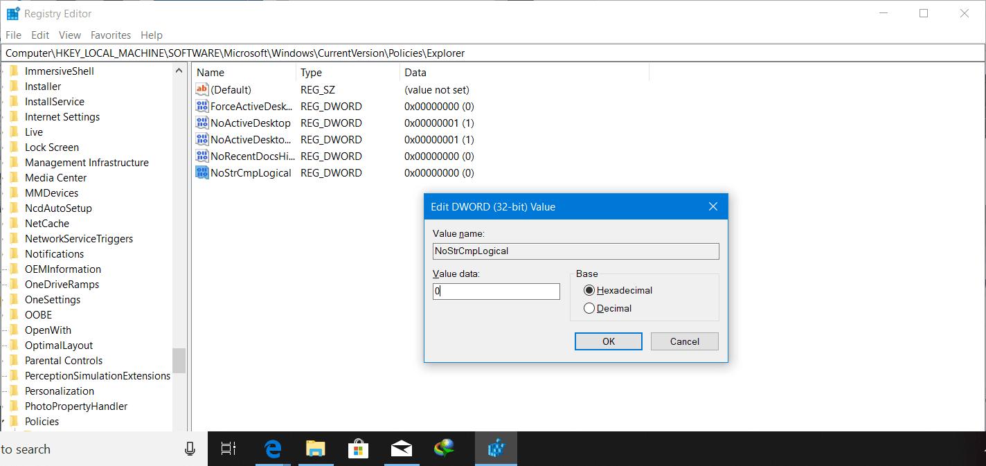 Cómo habilitar o deshabilitar la clasificación numérica en el Explorador de archivos 2