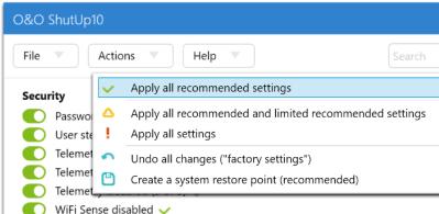 Proteja su privacidad en Windows 10 con ShutUp10 2