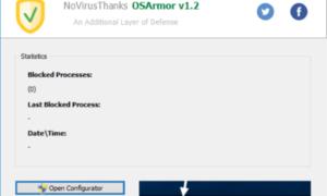 OSArmor supervisa y bloquea constantemente los procesos sospechosos en un PC con Windows