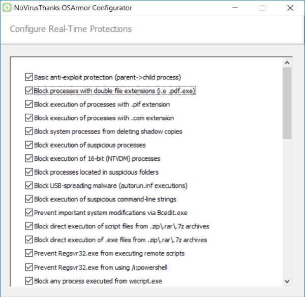 OSArmor supervisa y bloquea constantemente los procesos sospechosos en un PC con Windows 1