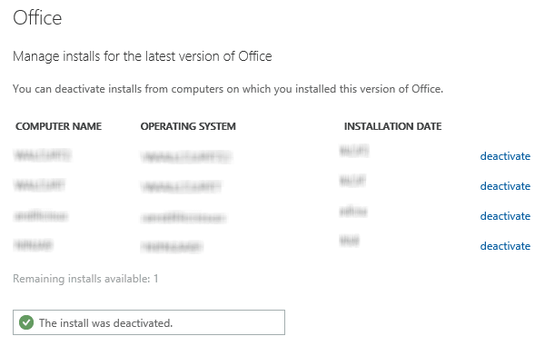Cómo desactivar Office si ve un mensaje de Instalar límite alcanzado