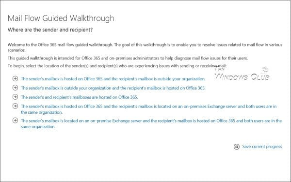 Solucionador de problemas de flujo de correo de Office 365 de Microsoft