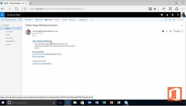 Uso de las plantillas de salud virtuales de Office 365 con Skype para empresas