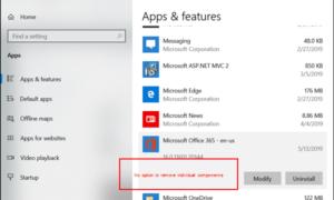 Cómo desinstalar aplicaciones de Office individuales de un equipo con Windows 10
