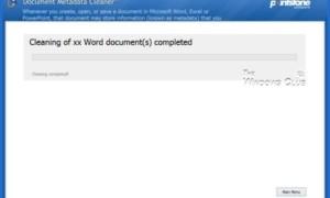 Limpiador de Metadatos: Herramienta de limpieza y eliminación de metadatos de documentos de oficina