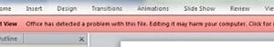 Microsoft Office ha detectado un problema con este archivo