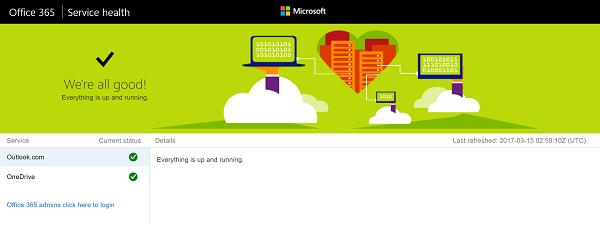 Cómo saber si Microsoft Services está caído o no 4