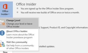 Cómo inscribirse en el Nivel Rápido de Office Insider para Office 2016
