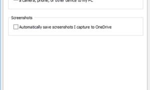 Cómo dejar de guardar capturas de pantalla en OneDrive automáticamente en Windows 10