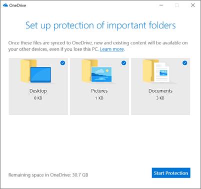 Cómo configurar la protección de carpetas para la cuenta de OneDrive